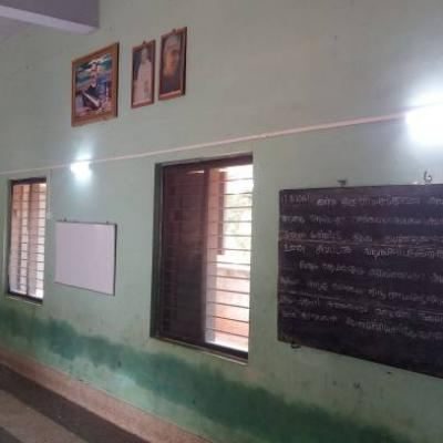Lighted Study Room In The Hostel