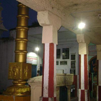 Solar Lights Illuminating The Kovil Prakaram