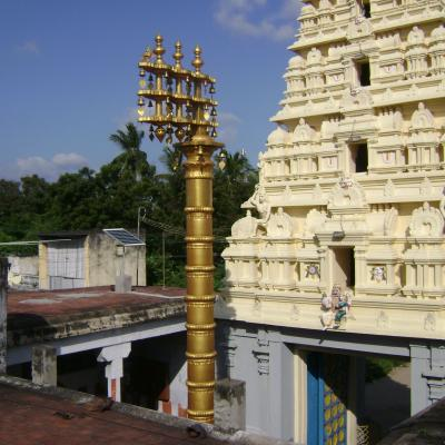 Solar Panel Installed In Slns Temple