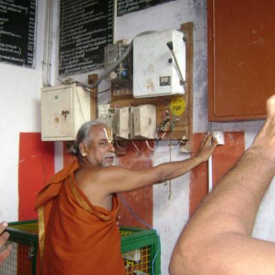 Swamigal Inaugurating The Solar Lights Amidst Nadaswara Innisa