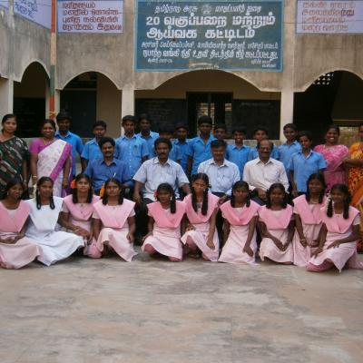 Group Photo In The School Central Yard