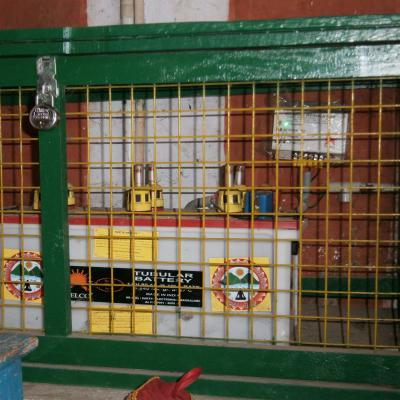 Protected Battery Set In Temple