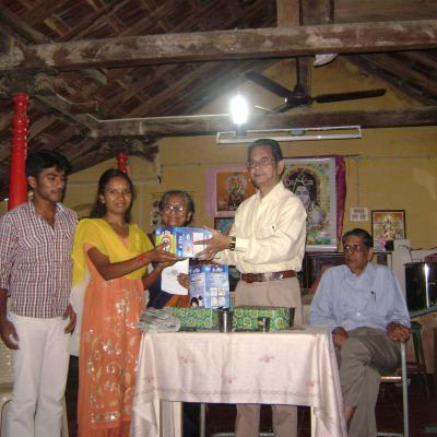 Presentation Of Portable Solar Lantern To Tuition Center