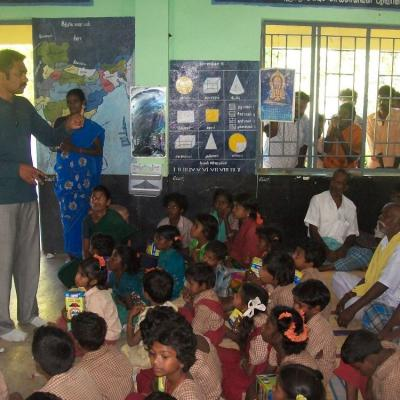 Nambirajan Selco Tn Explaining The Features Of The Solar System To The Villagers