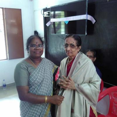 Felicitationf To Dpf Mts Wife Smt Nalini