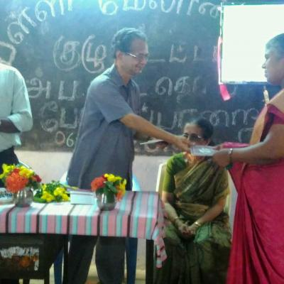 Dpf Publication Book Presented To Ms Rani Hm Of Primary