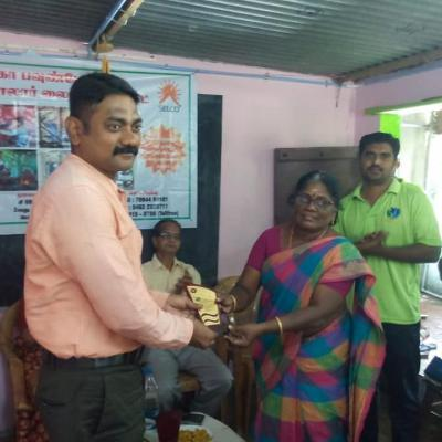 Selco Nambirajan Presented A Memento By Anisha Kumari Hm Of The School