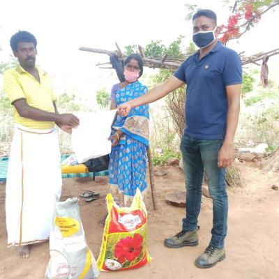 Grocery Kits Being Given To Villagers