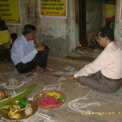 Dpf Trustees Participating In The Poojai