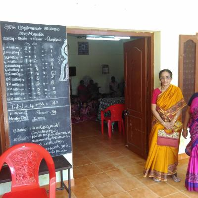 Mrs Vparthasarathy With The Warden Of The Childrens Home