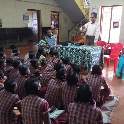 Vparthasarathy Addressing The Children