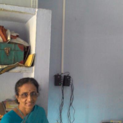 Mrs. Nalini Partha Sarathy Wife Of Managing Trustee Dpf Viewing The Charging Arrangements For Portable Lanterns