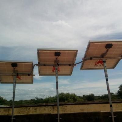 Panoramic View Of The Solar Panels On The Terrace Of Girls Hostel Karadikkal Madurai