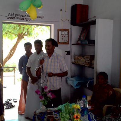 Address By Hm Of Kallakkinaru School On His Experience Of Dpf Solar Lights